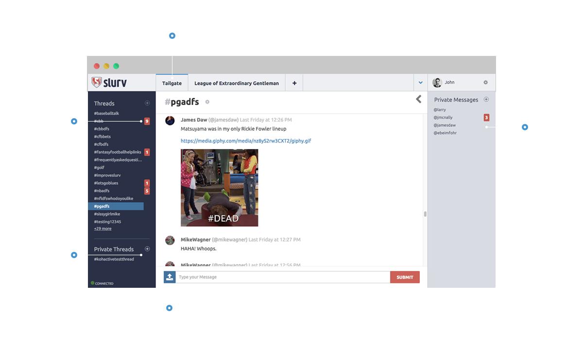 Slurv web app overview